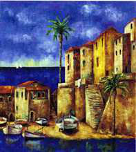 Costa Dorada poster print by Wendy Wooden