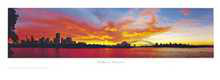 Sydney Sunset poster print by Phil Gray