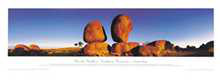 Devils Marbles poster print by Phil Gray